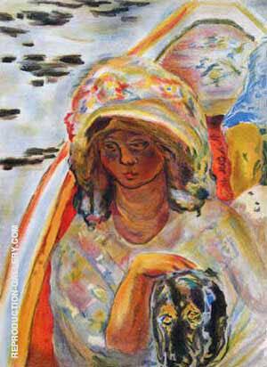 Jeune Fille Dans Une Baroque By Pierre Bonnard