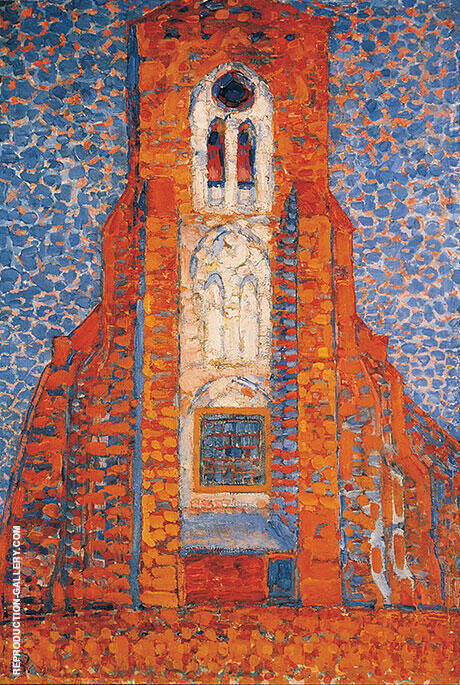 Sun, Church in Zeeland By Piet Mondrian Replica Paintings on Canvas - Reproduction Gallery
