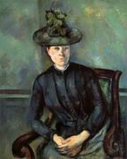 Portrait of a Woman in Green Hat By Paul Cezanne