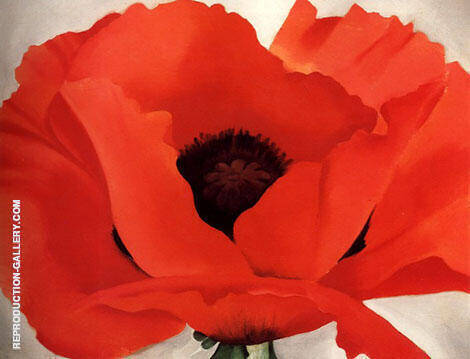 Red Poppy Painting By Georgia O'Keeffe - Reproduction Gallery
