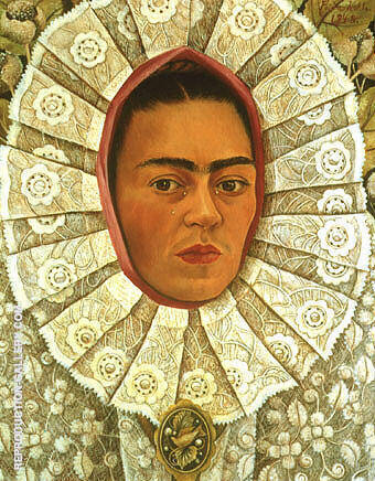 Reproduction of Self Portrait 1948 by Frida Kahlo | Oil Painting Replica On CanvasReproduction Gallery