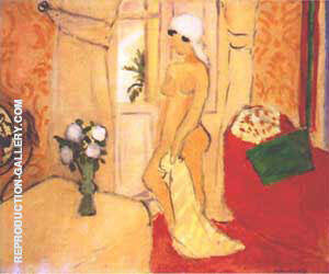 Nude in a White Turban Painting By Henri Matisse - Reproduction Gallery
