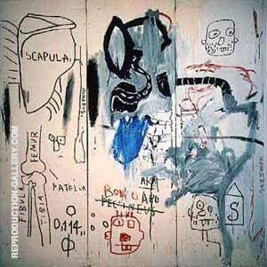 The Dutch Settlers Part I By Jean-Michel-Basquiat Replica Paintings on Canvas - Reproduction Gallery