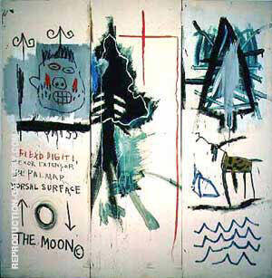 The Dutch Settlers Part II By Jean-Michel-Basquiat Replica Paintings on Canvas - Reproduction Gallery