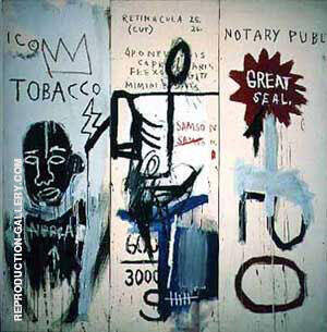 The Dutch Settlers Part III Painting By Jean-Michel-Basquiat