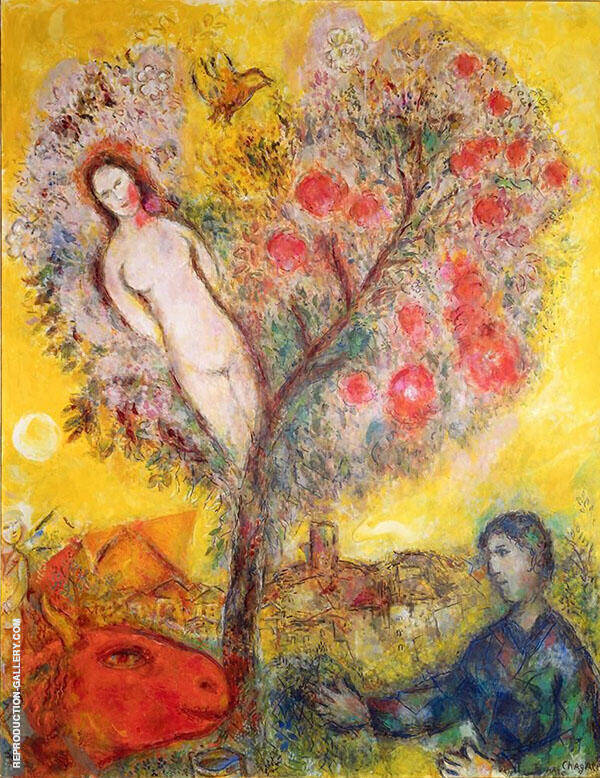 La Branche 1976 Painting By Marc Chagall - Reproduction Gallery