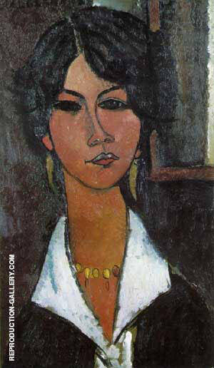 Woman of Algiers 1917 By Amedeo Modigliani Replica Paintings on Canvas - Reproduction Gallery