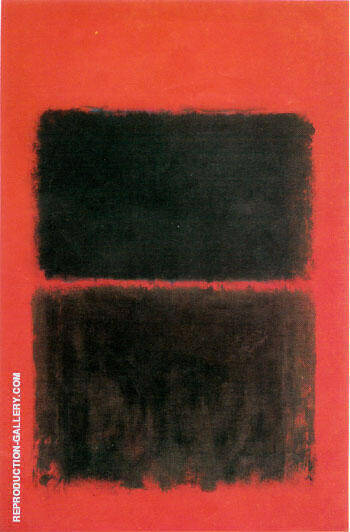 Light Red Over Black 1957 By Mark Rothko Replica Paintings on Canvas - Reproduction Gallery