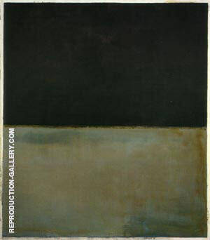 1969 Untitled Black on Gray Painting By Mark Rothko - Reproduction Gallery