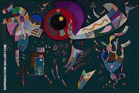 Around the Circle 1940 By Wassily Kandinsky - Oil Paintings & Art Reproductions - Reproduction Gallery
