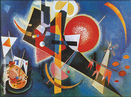 In Blue 1925 Painting By Wassily Kandinsky - Reproduction Gallery