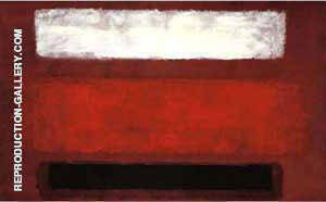 No 9 White and Black on Wine 1958 Painting By Mark Rothko