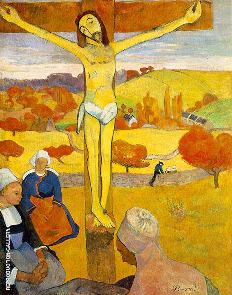 The Yellow Christ By Paul Gauguin - Oil Paintings & Art Reproductions - Reproduction Gallery