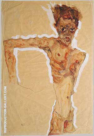 Self-Portrait 1911 Painting By Egon Schiele - Reproduction Gallery