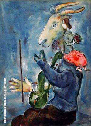 Spring By Marc Chagall Replica Paintings on Canvas - Reproduction Gallery