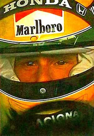 Ayton Senna Pit Lane By Male Sports