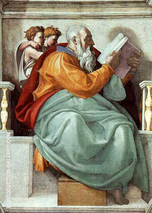 The Prophet Zachariah By Michelangelo - Oil Paintings & Art Reproductions - Reproduction Gallery