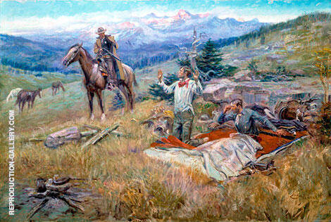 The Call of the Law Painting By Charles M Russell - Reproduction Gallery