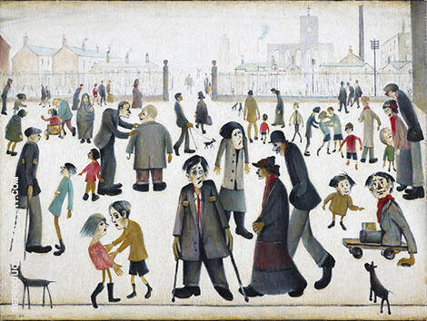 The Cripples 1949 By L-S-Lowry - Oil Paintings & Art Reproductions - Reproduction Gallery