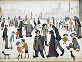 The Cripples 1949 By L-S-Lowry