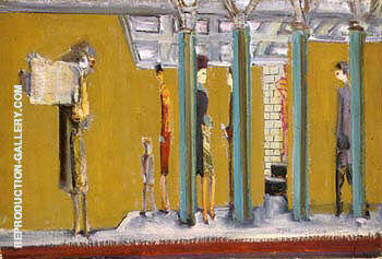 Reproduction of Subway 1937 by Mark Rothko | Oil Painting Replica On CanvasReproduction Gallery