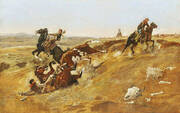 Cowpunching Sometimes Spells Trouble 1889 By Charles M Russell