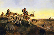Seeking New Hunting Grounds 1891 By Charles M Russell