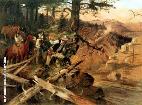 The Ambush [The Road Agents] 1896 By Charles M Russell