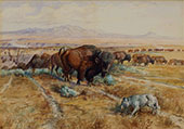 Guardian of the Herd 1899 By Charles M Russell