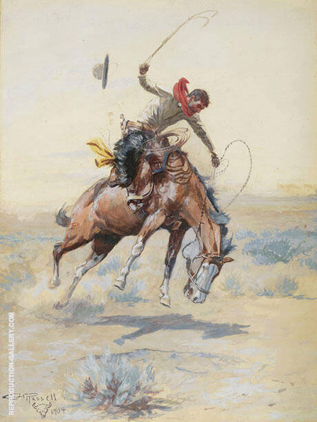 The Bucker 1904 By Charles M Russell - Oil Paintings & Art Reproductions - Reproduction Gallery