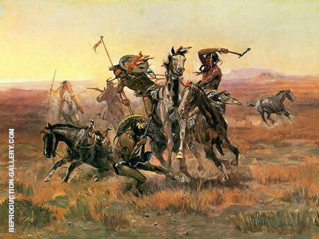 When Blackfeet and Sioux Meet 1908 By Charles M Russell