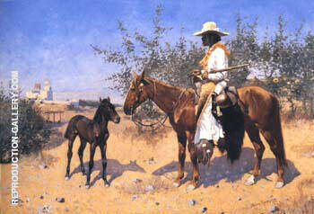 The Sentinel 1889 Painting By Frederic Remington - Reproduction Gallery