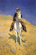 Self-Portrait on a Horse 1890 By Frederic Remington