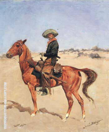 The Puncher 1895 Painting By Frederic Remington - Reproduction Gallery