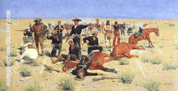 Rounded-Up 1901 Painting By Frederic Remington - Reproduction Gallery