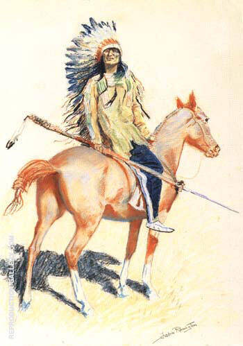 Reproduction of A Sioux Chief 1901 by Frederic Remington | Oil Painting Replica On CanvasReproduction Gallery