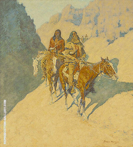 The Unknown Explorers 1908 Painting By Frederic Remington
