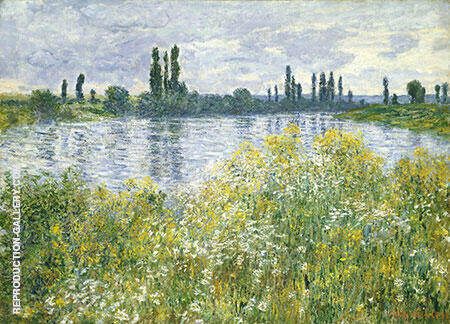 Banks of the Seine Vetheuil 1880 Painting By Claude Monet