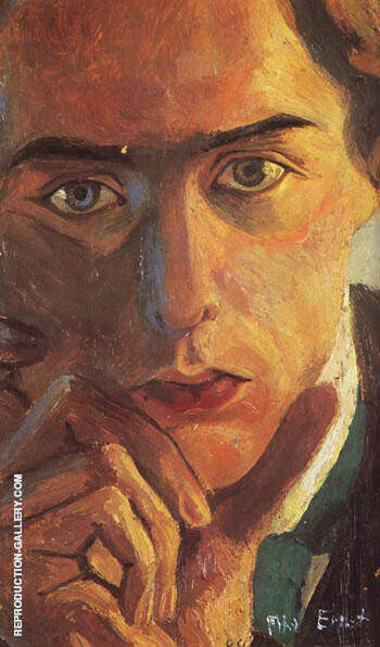self portrait 1909 Painting By Max Ernst - Reproduction Gallery