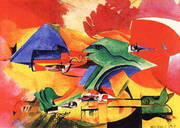 Fish Fight 1917 By Max Ernst
