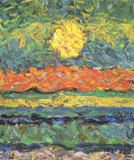 Landscape with Sun, 1909 By Max Ernst