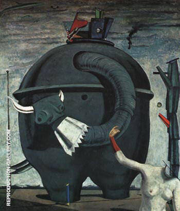 Celebes the Elephant, 1921 By Max Ernst - Oil Paintings & Art Reproductions - Reproduction Gallery