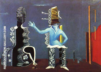 The Couple, 1923 Painting By Max Ernst - Reproduction Gallery