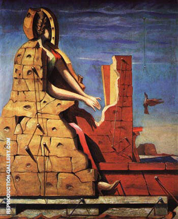 Reproduction of St. Cecilia The Invisible Piano 1923 by Max Ernst | Oil Painting Replica On CanvasReproduction Gallery