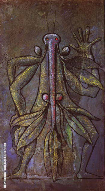 Human Figure, 1931 By Max Ernst Replica Paintings on Canvas - Reproduction Gallery