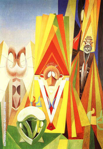 The Feast of the Gods, 1948 By Max Ernst - Oil Paintings & Art Reproductions - Reproduction Gallery