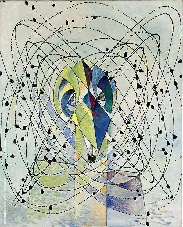 Young Man Intrigued by the Flight of a Non-Euclidean Fly By Max Ernst