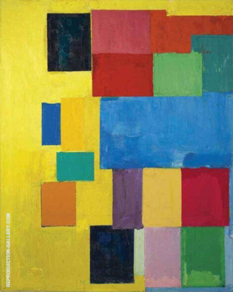 Pastorale 1958 By Hans Hofmann Replica Paintings on Canvas - Reproduction Gallery