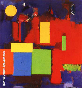 Reproduction of Rising Moon, 1965 by Hans Hofmann | Oil Painting Replica On CanvasReproduction Gallery