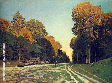 The From Chailly to Fontainebleau 1864 Painting By Claude Monet
